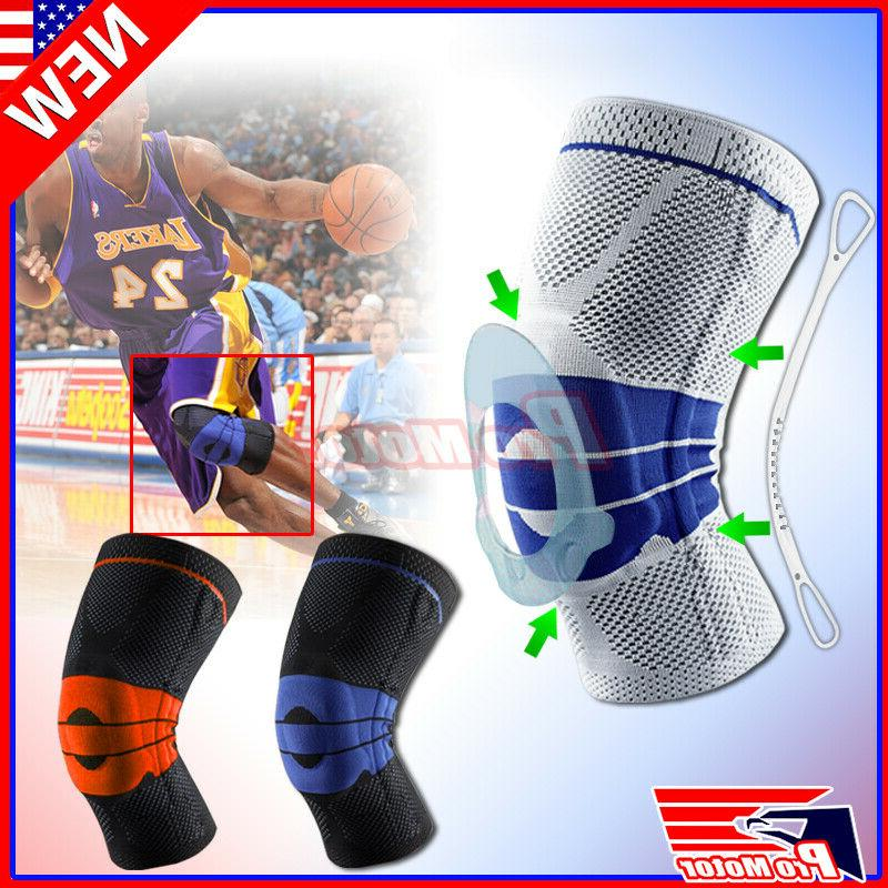 knee brace compression protection silicone spring meniscus