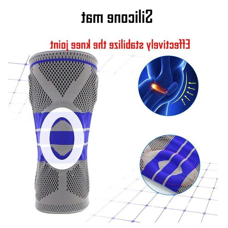 Knee Brace Compression Silicone Pain Relief Z