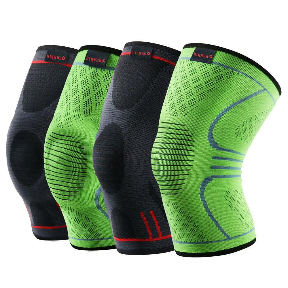 knee brace compression sleeve sports support pad