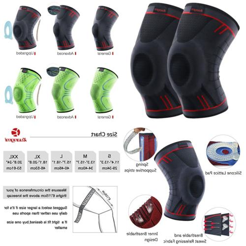 knee brace compression sleeve support for running