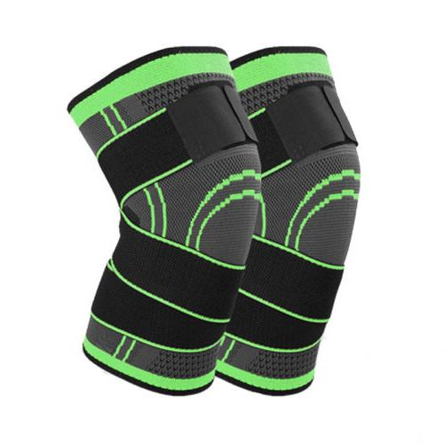 2X Knee Brace Adjustable Compression Straps Joint Pain Relief Arthritis