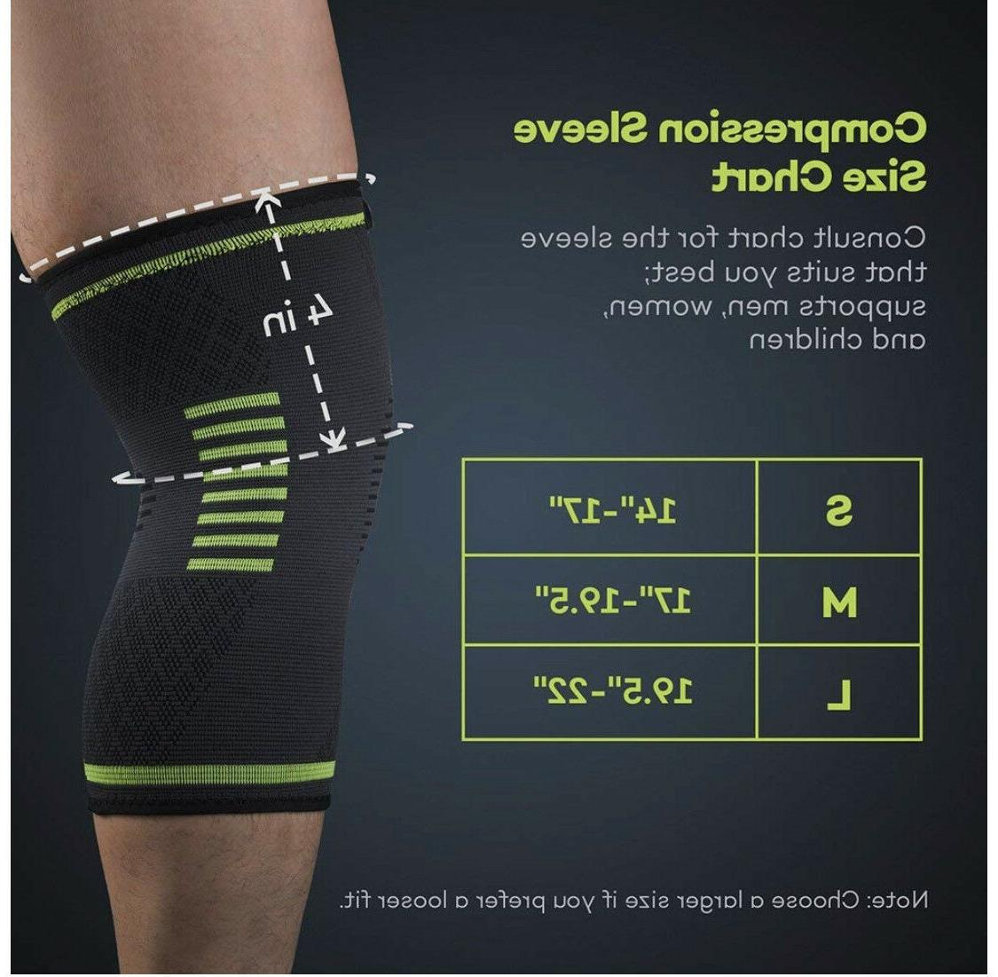 knee brace support compression sleeves