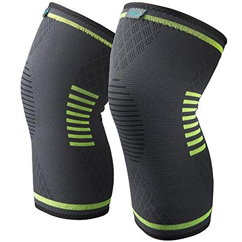 Sable Knee Brace Sleeves Pack FDA Approved, Support ACL, Biking, Basketball Sports, Meniscus Tear, Recovery,