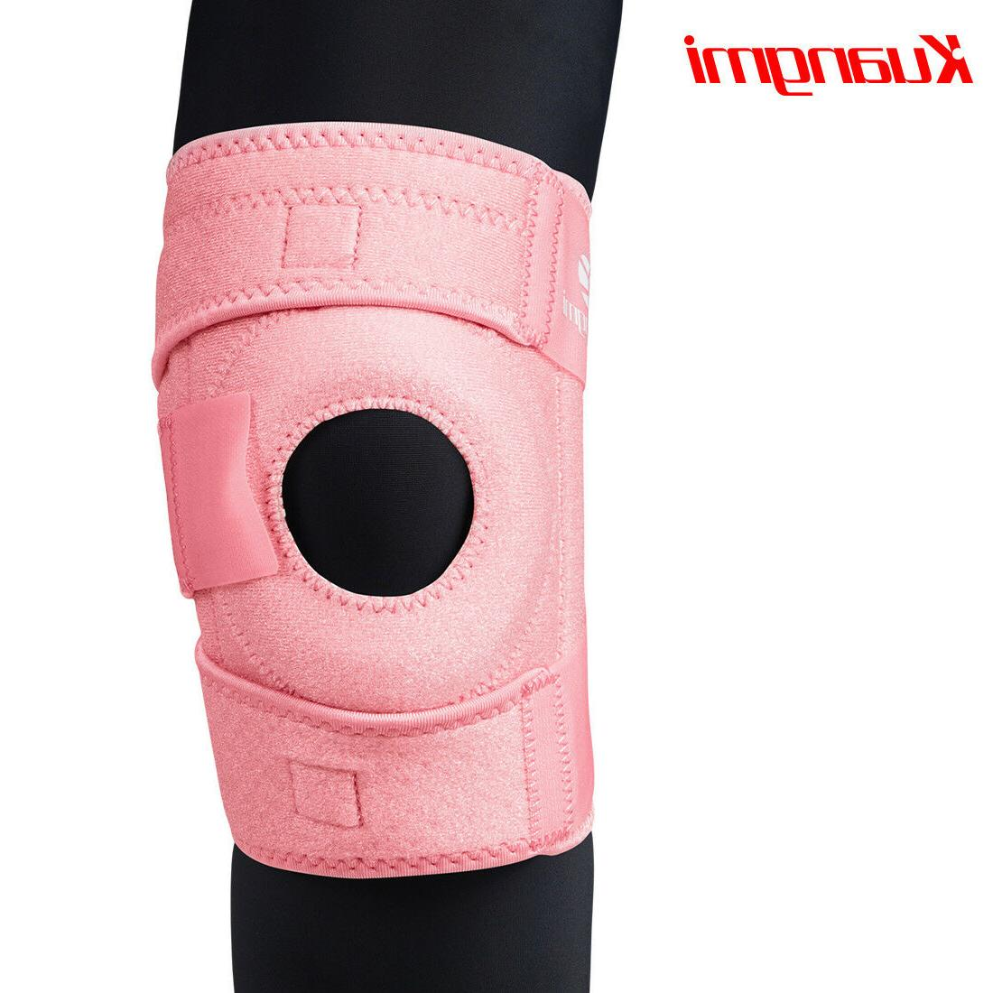 Kuangmi Support Open Patella Stabilizer Protector Kneepad