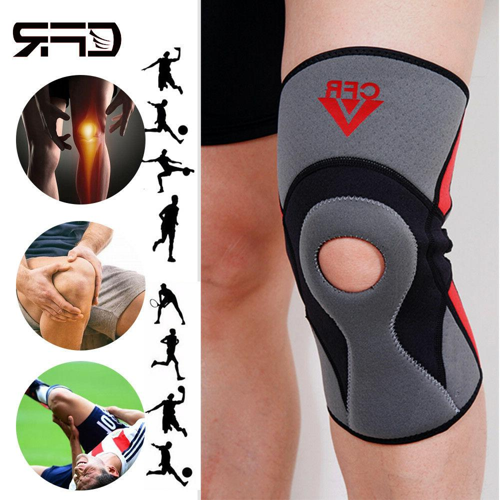 knee brace support sleeve open patella neoprene