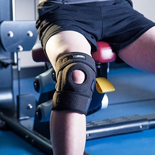 Knee for Arthritis, Meniscus Tear, ACL, Running, Basketball, Sports, Athletic, and Neoprene Open Stabilizer Protector to Relieve Pain