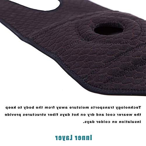 for Arthritis, Meniscus Tear, Athletic, MCL, Runners and Neoprene Open Patella Protector