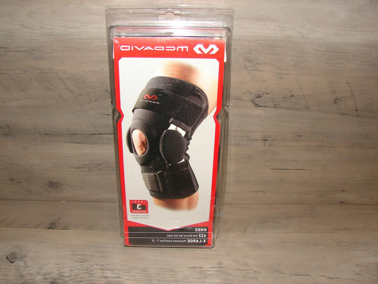 knee brace with dual disk hinges brand
