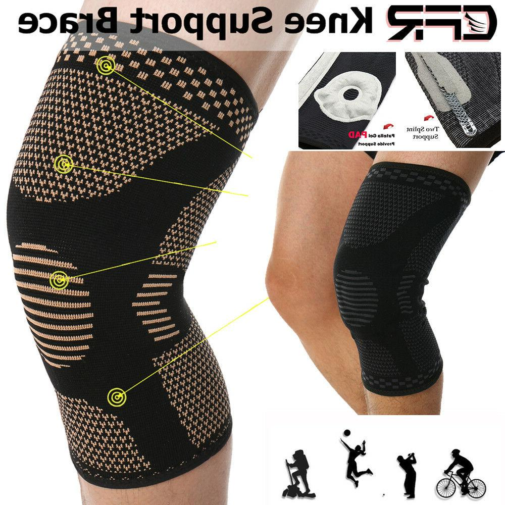 knee compression brace sleeve patella support sports