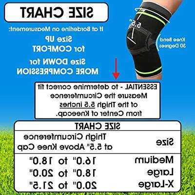 Tech Pro Knee Compression Sleeve - Knee with Stabilizers &