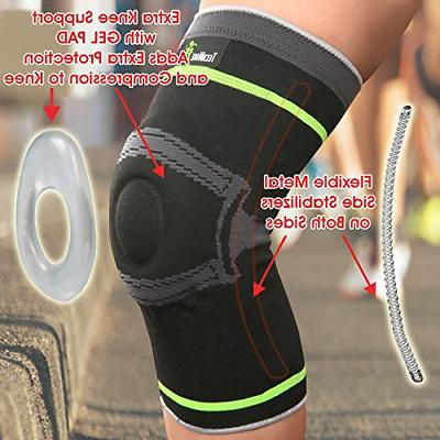 Tech Ware Pro Compression Knee with Side Stabilizers