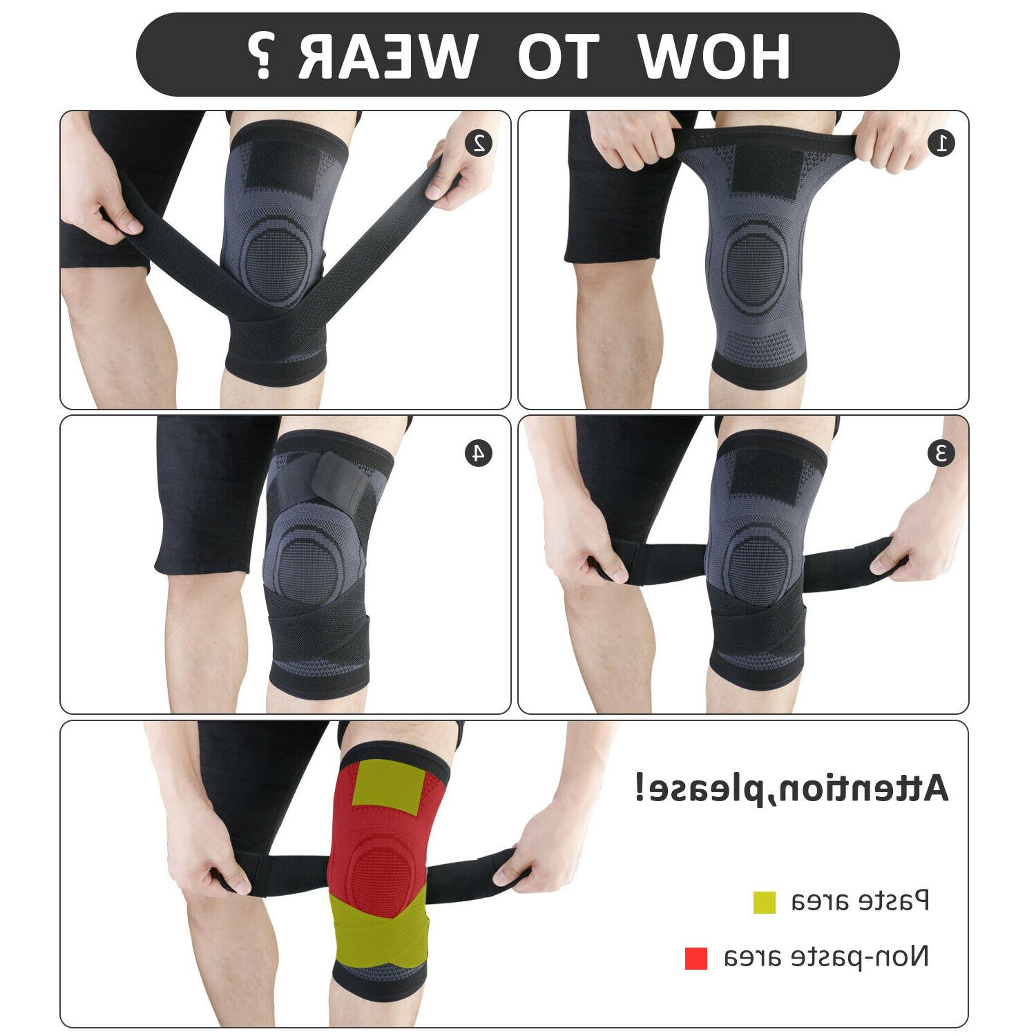 2X Knee Sleeve Brace Pads Joint