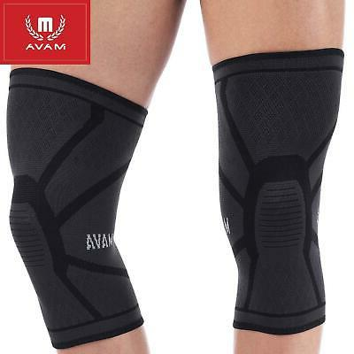Mava Sports Knee Compression Sleeve Support Black, X-Large