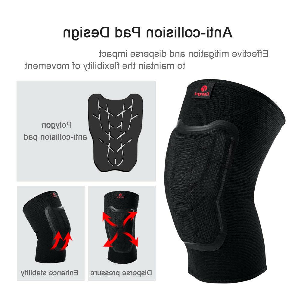 Kuangmi Knee Compression Brace Protective Pad for Men Basketball