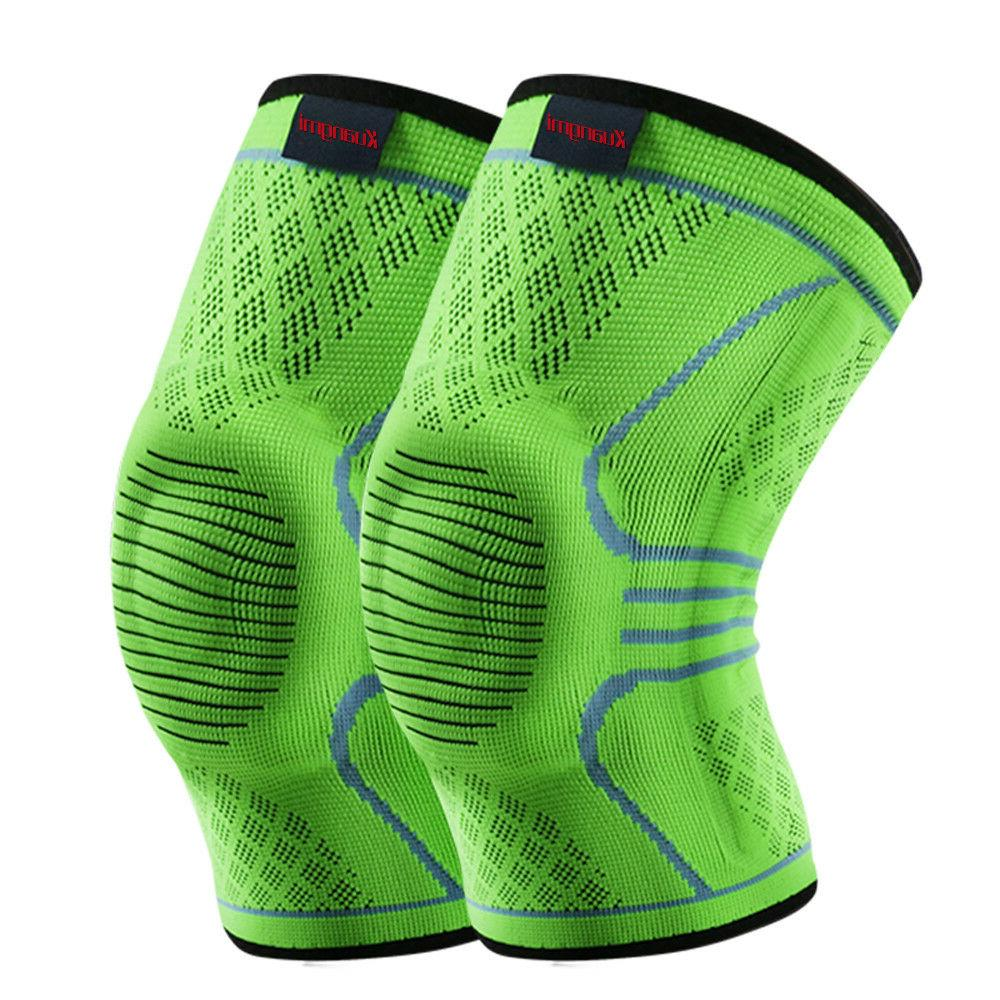 knee sleeve compression brace breathable sports support