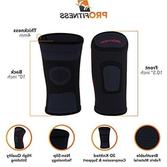 ProFitness Knee Sleeves Support For