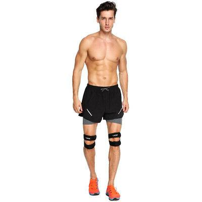 Knee Support Running Leg Gym Outdoor Foot Padded US