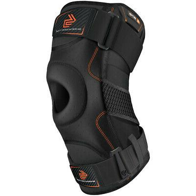 knee support brace with dual hinges black
