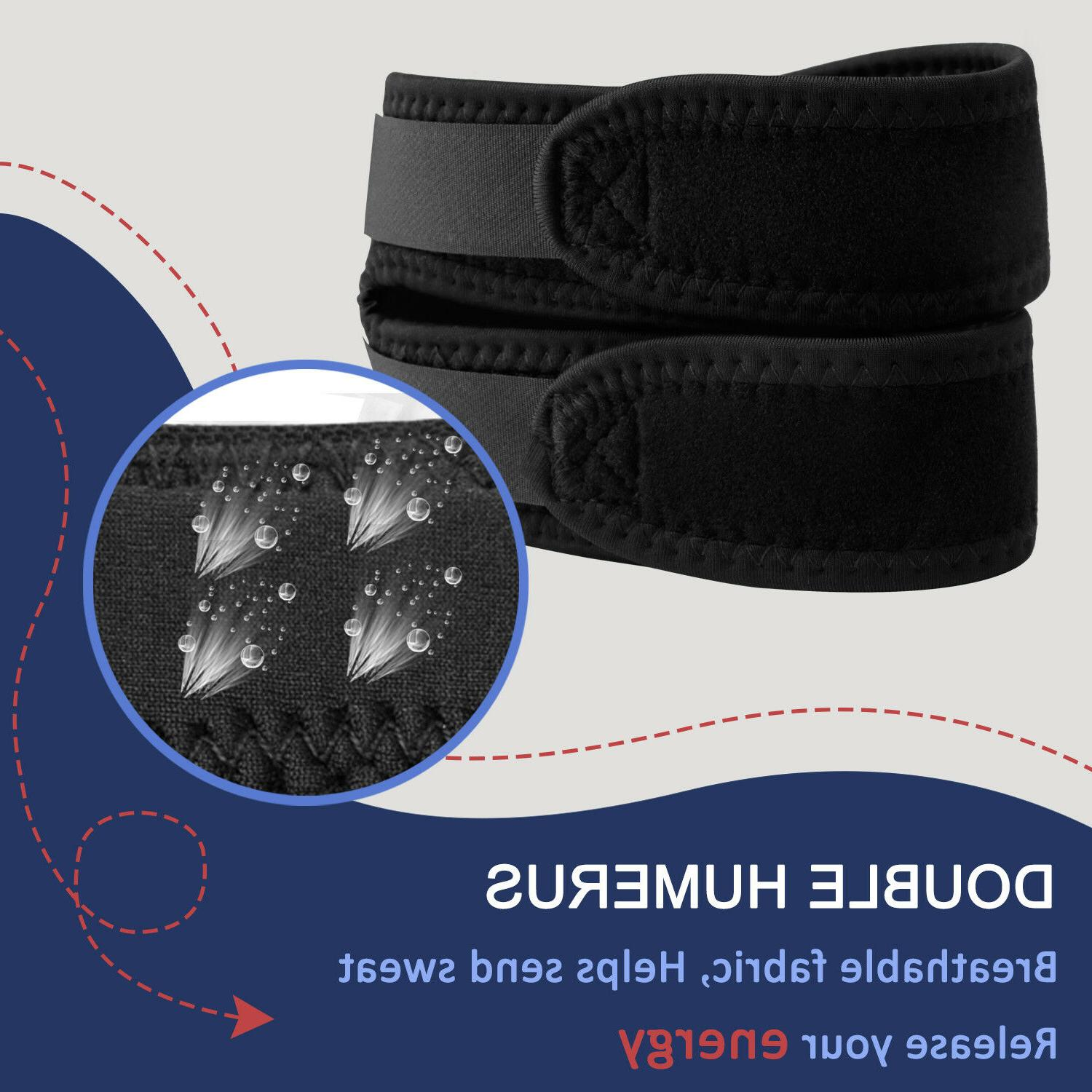 Knee Support Patella Double Stabilizer Brace