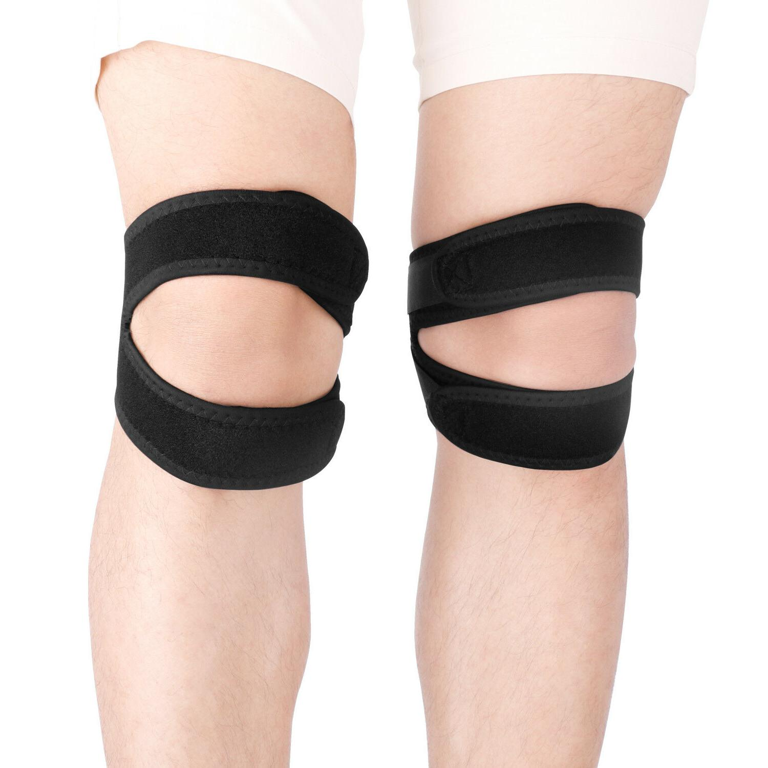 knee support protection patella double strap stabilizer