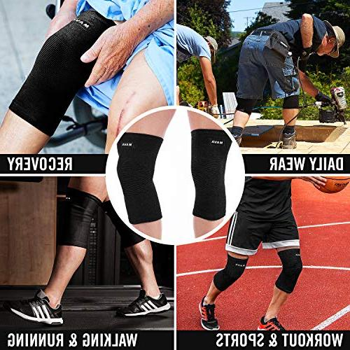 Mava Sports Sleeves for Joint & Circulation Compression – Support for Jogging,Workout, Walking &