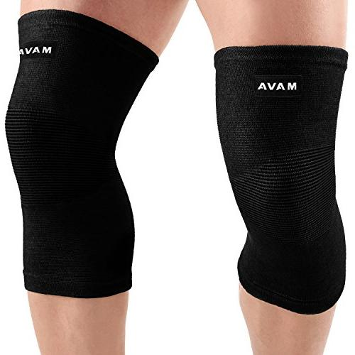 knee support sleeves pair for joint pain