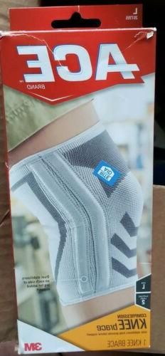ACE Knitted Compression Knee Brace with Dual Side Stabilizer
