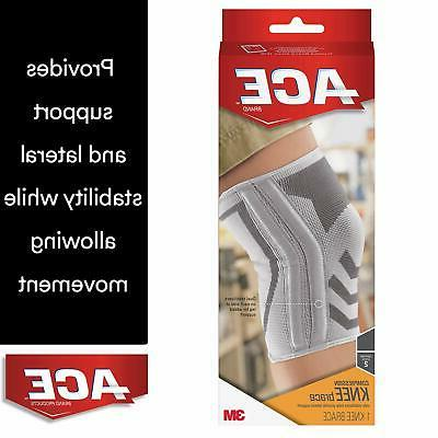 ACE Knitted Knee Brace with Side Stabilizers, Extra Large Su