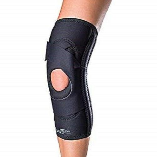 lateral j patella knee brace with hinge