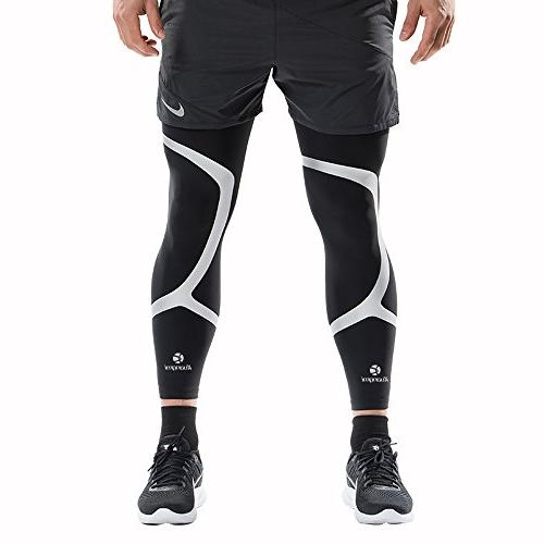 Kuangmi Sleeve Breathable Basketball,Running,Cycling,Pain Relief,Shin Splints Large)