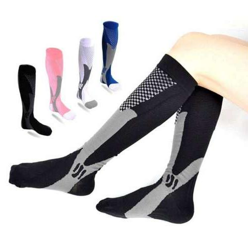 Women Compression Long Socks Leg Foot Support Pain Relief Sp