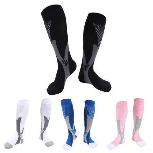 Women Compression Long Socks Leg Support Pain Relief Sports