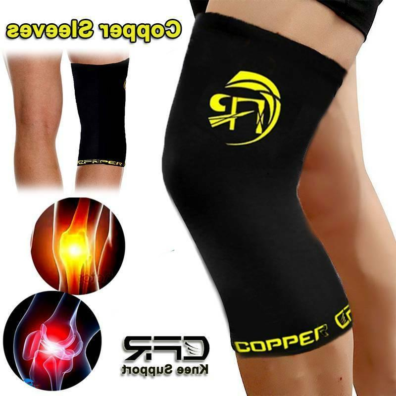 Copper Knee Support Brace Copper Leg Compression Sleeve Tomm
