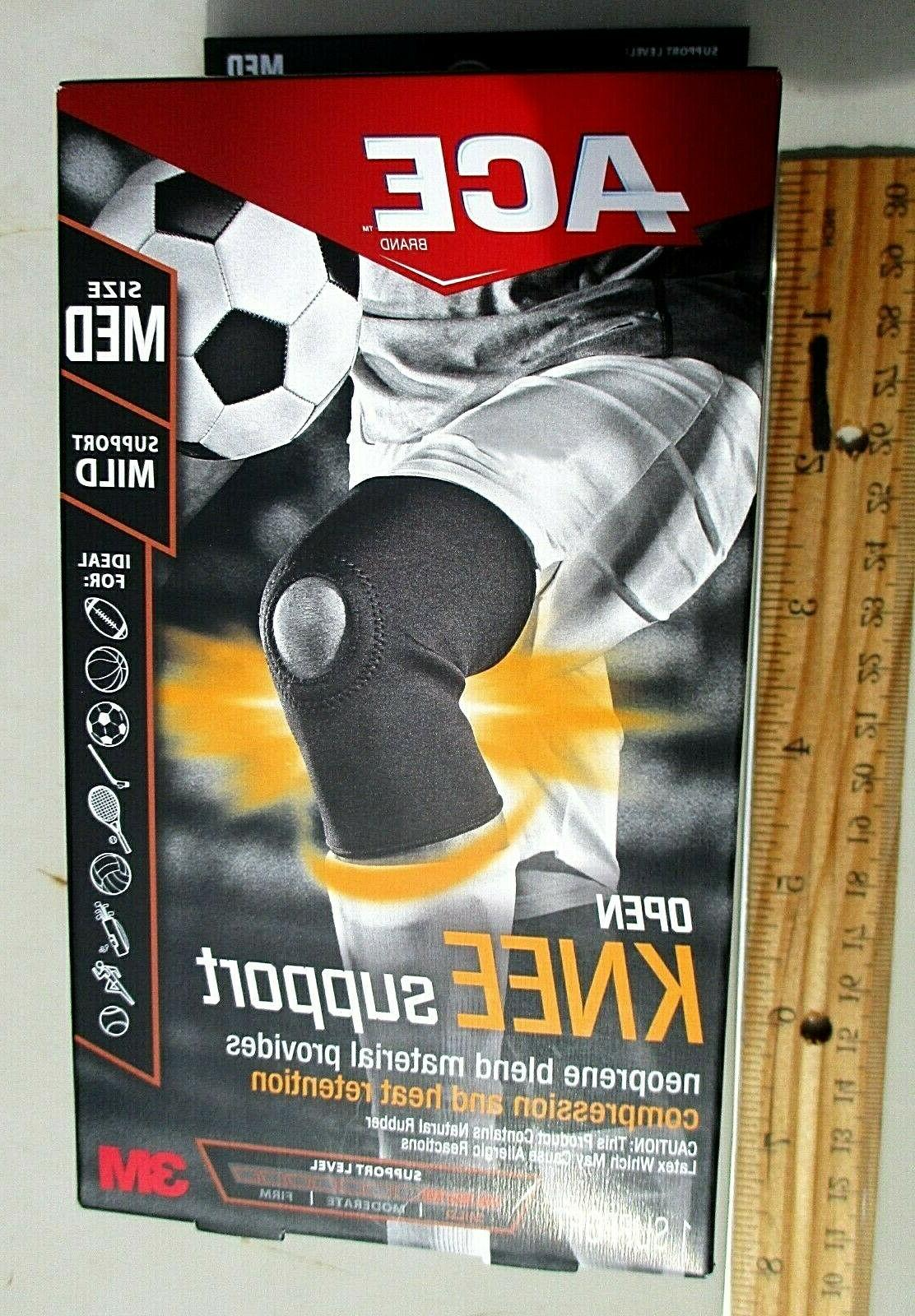 NEW ACE OPEN KNEE SUPPORT SIZE MEDIUM SUPPORT MILD #907005 N