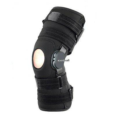 new wrap around hinged knee brace support