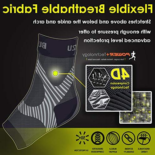 Plantar Fasciitis with Arch Support, BEST Care Sleeve, than Night Swelling Ankle Support, Increases Circulation, Pain L-XL