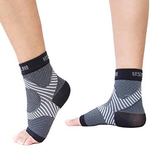 Plantar Socks Arch Support, BEST Care than Night Splint, Swelling Heel Ankle Circulation, Relieve Pain L-XL