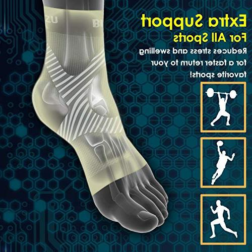Plantar Care Sleeve, than Eases Swelling & Ankle Increases L-XL