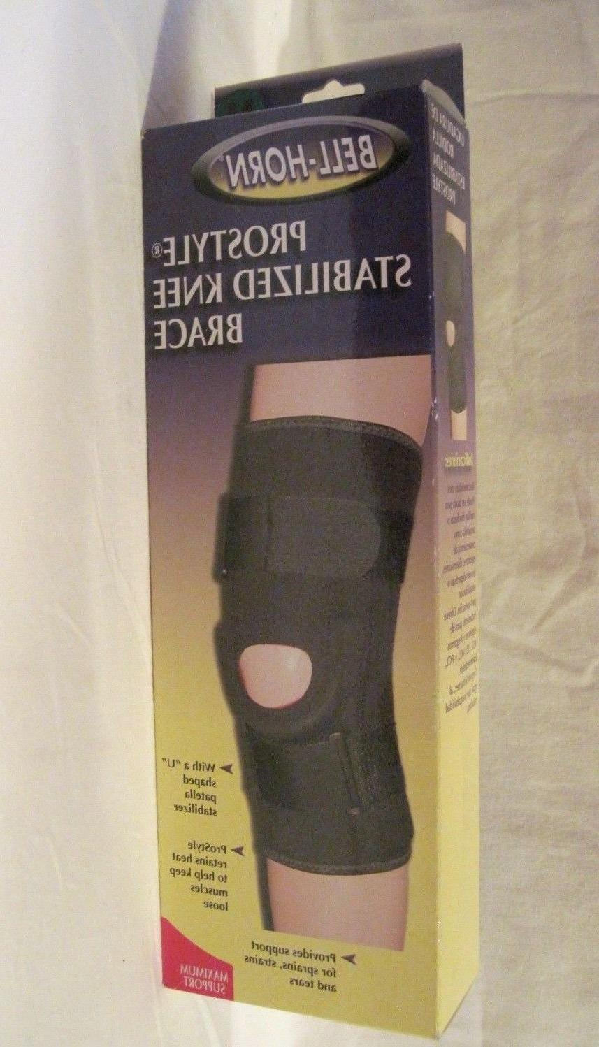 Bell-Horn ProStyle Stabilized Knee Brace, Black, Medium
