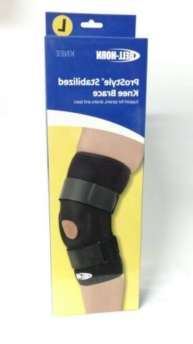 Bell-Horn ProStyle Stabilized Knee Brace, Black, Large