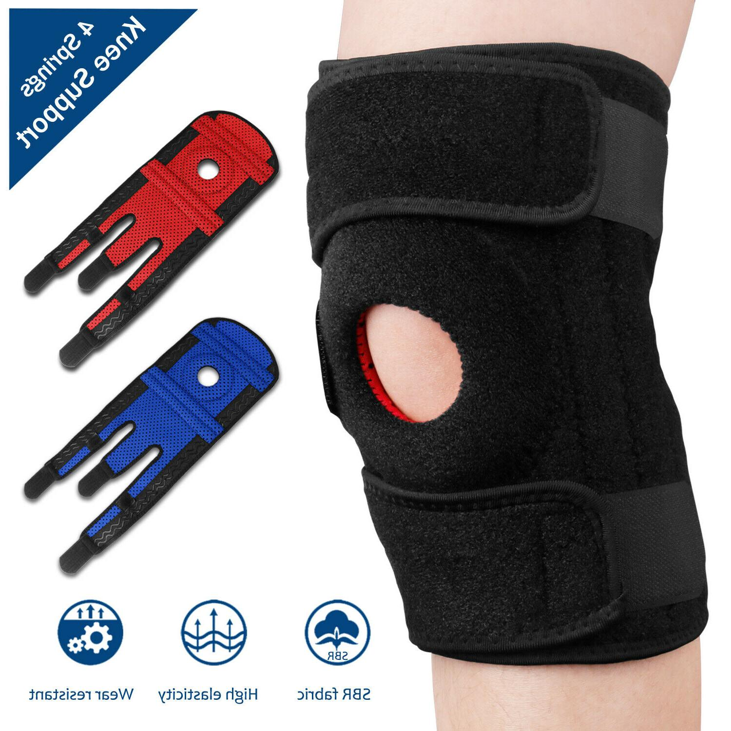 right left knee brace support stabilizer