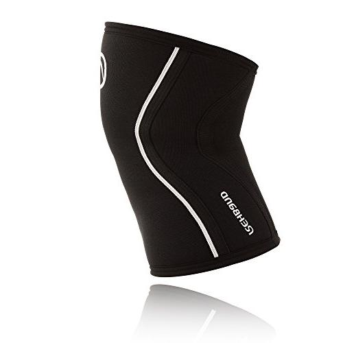 Rehband 7mm Black - Expand Your Movement + Cross Training Potential Knee Sleeve for - Stronger + More - Relieve 1