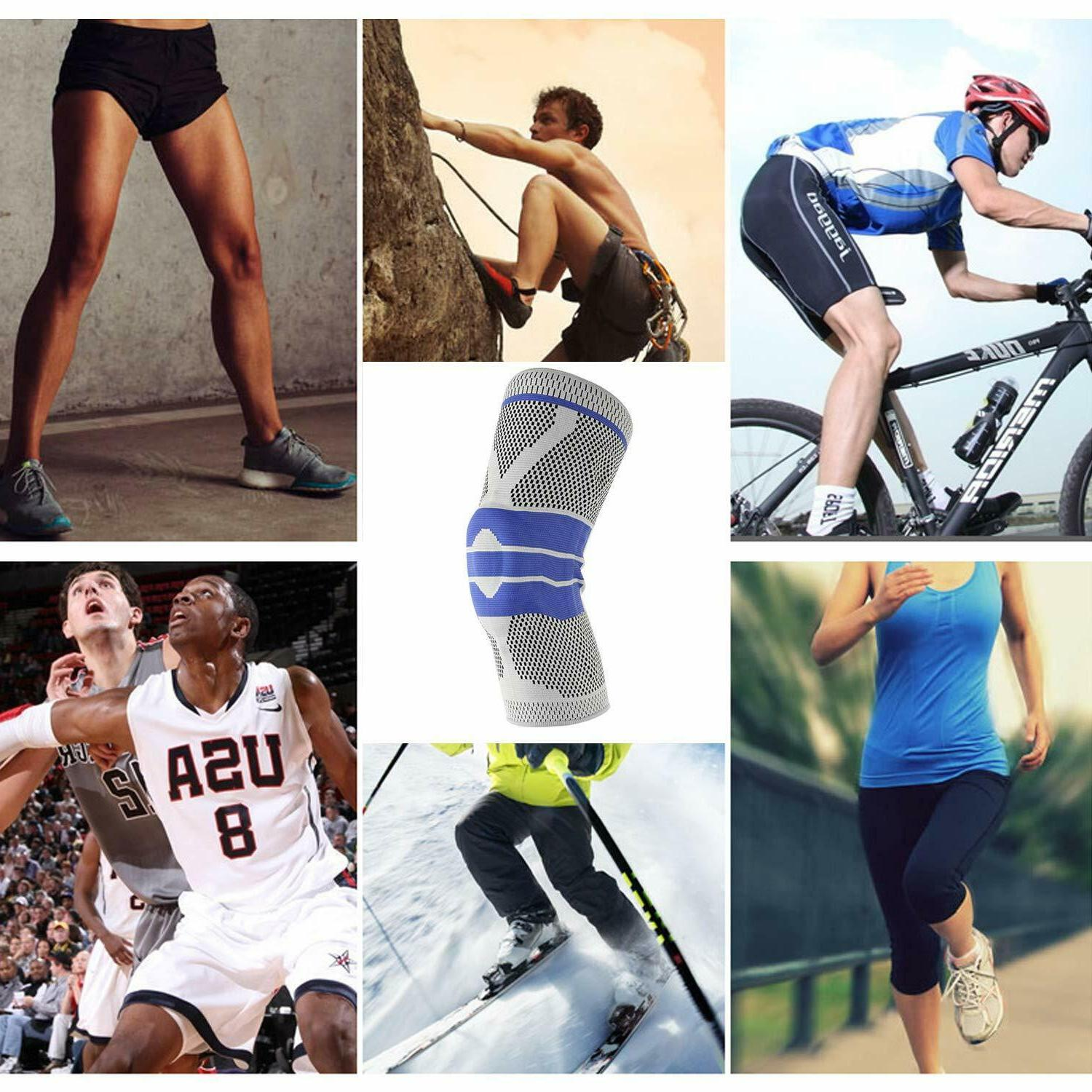 Silicone Knee Sport Strong Protection Compression