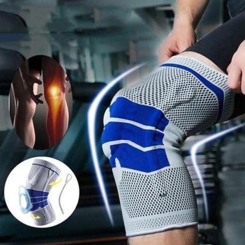 silicone spring knee brace sport support strong