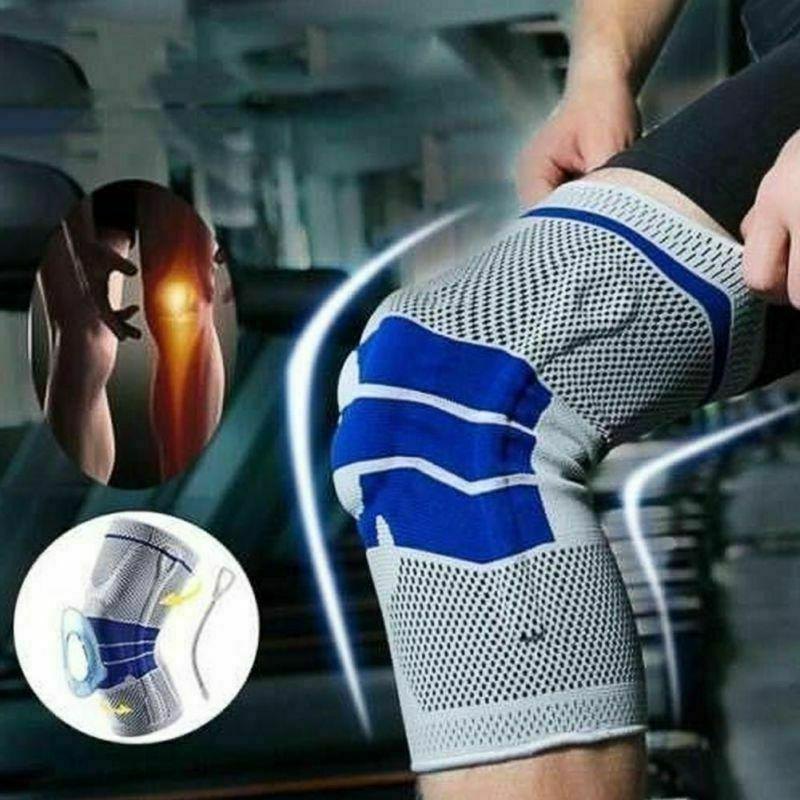 spring silicone knee brace sports support strong