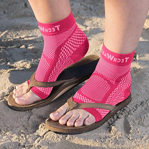 Compression Sleeve - Relieves Achilles Tendonitis, Plantar Sock with Swelling & Pain. Recovery
