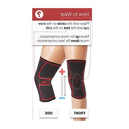 UFlex Knee Sleeve for Jogging, Joint Pain Relief, and Recovery-Single Large