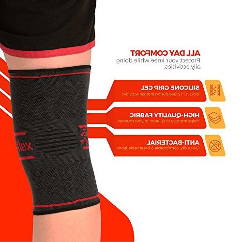 UFlex Athletics Compression Sleeve Jogging, Relief, Recovery-Single