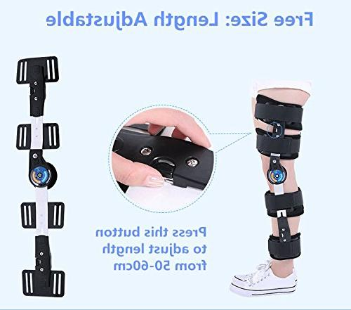 Universal Size Hinged ROM Knee Support for Knee & Burden
