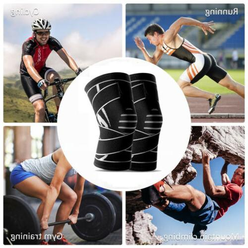 Weaving Knee Sleeve Pad Support Sports Gym Running Joint